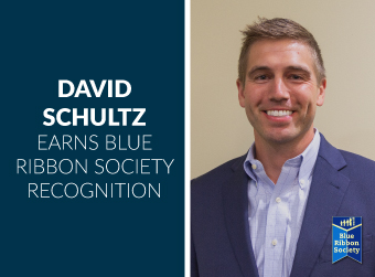 David Schultz Earns Blue Ribbon Society Recognition