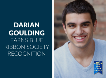 Hampshire Graduate Darian Goulding Receives Blue Ribbon Society Recognition
